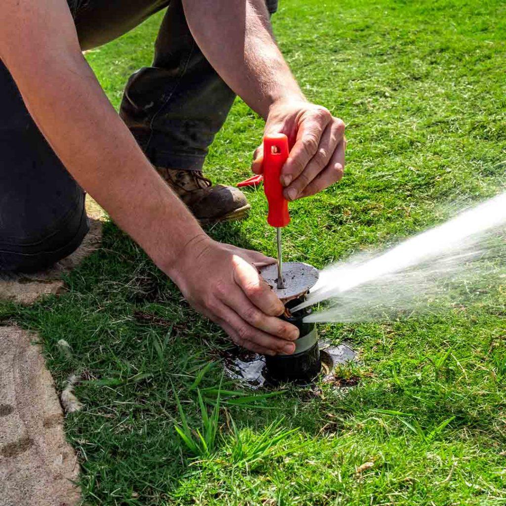 Irrigation on golf course