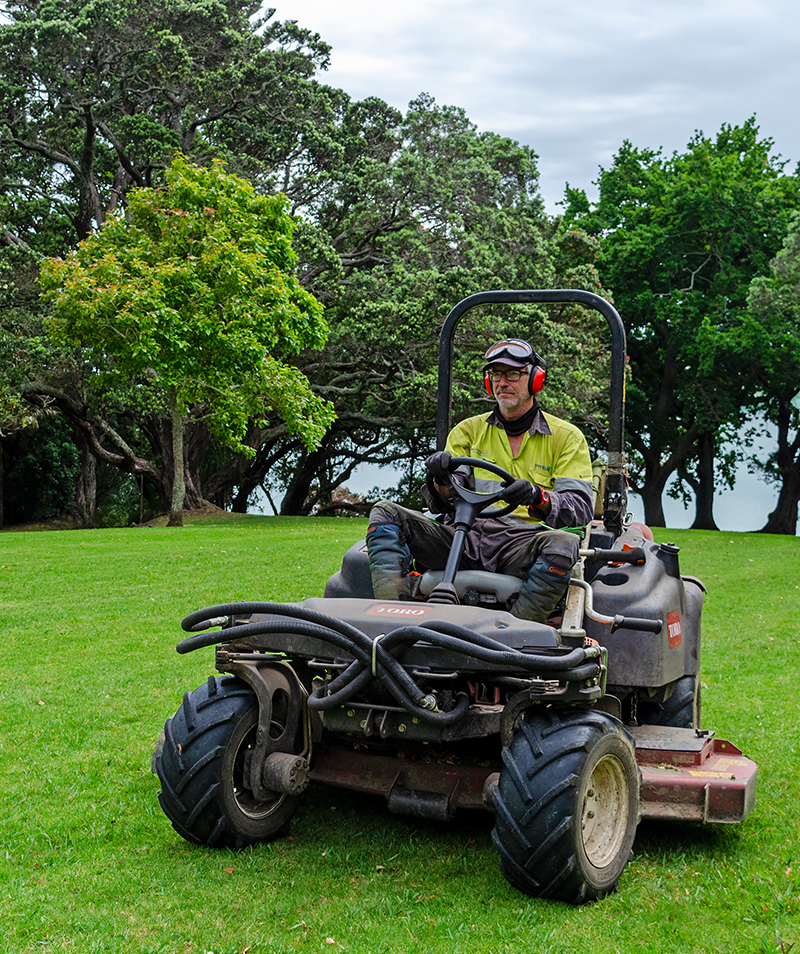 Safety is key - mowing